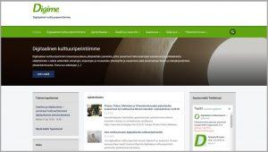 Digime.fi verkkosivut ja logo
