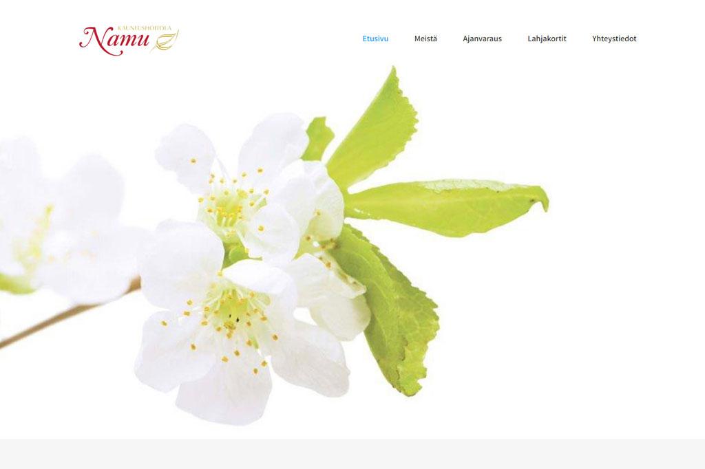 Kauneushoitola Namu www-sivut